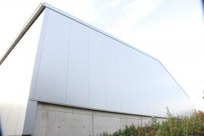 Neubau einer Lagerhalle mit Außenlager